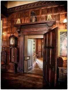 Melford Hall | Flickr - Photo Sharing! Wood Panel Walls, Wood Paneling, Panelling, Little Moreton Hall, Belton House, Castle House, Classic House, Castle Interiors, Interior Decorating