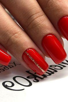 red manicure #red #manicure #love #nails #nailart #beautiful #gelnails #nail #art #naildesign #fashion #gelpolish #nailswag #nailpolish #nailsoftheday Red Manicure, Gel Nails, Nail Art Hacks, Swag Nails, Gel Polish, Nailart, Nail Designs, Gemstone Rings, Beautiful