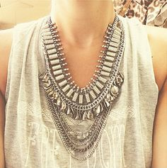 ... tendance, look, bijoux  Bijoux  Pinterest  Boho chic, Bijoux and