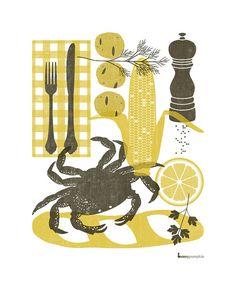 Crab Dinner by bunnypumpkin #etsy