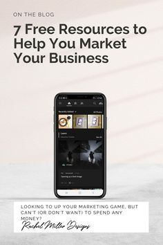 Looking to up your marketing game, but can't (or don't want) to spend any money? Here are 7 free resources to help you market your business. Rachel Miller, Social Media Tips, Graphics, Posts, Marketing, Money, Game, Learning, Business