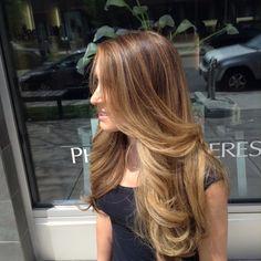 Jessie James Decker inspired honey blonde Balayage! Hair by Danni Sjodn in Denver, Co.