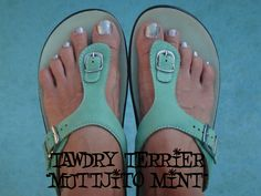 "@TawdryTerrier ""Muttjito Mint"" - available at https://www.etsy.com/shop/TawdryTerrier #nailpolish #indienailpolish #tawdryterrier"