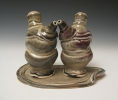Oil & Vinegar ewers with tray by braypottery on Etsy