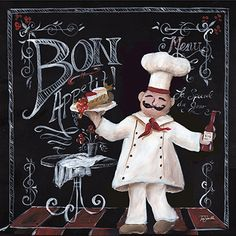 Chalkboard Chef II by Tre Sorelle Studios