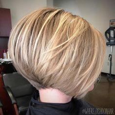 Graduated Bob Hairstyles, Bob Hairstyles For Thick, Graduated Hair, Stacked Bobs, Layered Bobs, Angled Bobs, Short Hair Cuts, Short Hair Styles, Blonde Hair