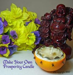 prosperity candle directions :http://silverravenwolf.wordpress.com/2012/01/30/how-to-make-a-prosperity-candle-out-of-a-fresh-orange-shell/