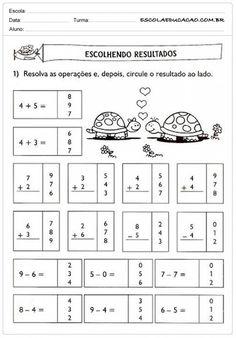 Atividades de Matemática 1º ano - Escolhendo resutlados