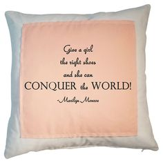 Add a feminine touch to your master suite chaise or reading nook arm chair with this lovely cotton pillow, showcasing a charming typographic motif and a soft...