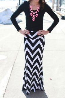 WANT THIS! Long Sleek Chevron Skirt
