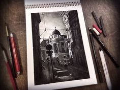 The Hofburg Imperial Palace, VIENNA. /charcoal, 2015/.  Tatiana Borishchenko #vienna #sketch #hofburg #landscape #city #cityscape #drawing #arttati #вена #скетч #набросок #рисунок #уголь #пейзаж #урбан #арт Land Scape, Charcoal, Drawing, Inspiration, Art, Charcoal Picture, Biblical Inspiration, Art Background, Kunst