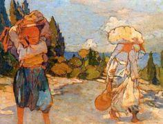 Peinture Algérie - Le retour du marché par Léon Cauvy