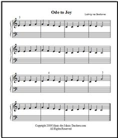 Ode to Joy, easiest version for beginners