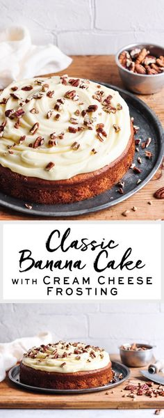 Classic Banana Cake with Cream Cheese Frosting | eatlittlebird.com