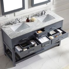 grey double vanity - Google Search