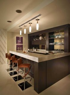 Decorating your ideal home bar design. Consider yourself lucky if you've got your own home bar - it's a perfect […] Modern Home Bar Designs, Wet Bar Designs, Mini Bars, Bar Countertops, Bar Counter Design, Counter Top, Bar Interior Design, Interior Designing, Ad Design