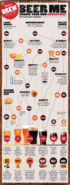 Beer Me poster - how to choose a style of beer #infographic