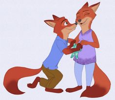 Zootopia - The sweetest wait. by Shadeink on DeviantArt Zootopia Characters, Zootopia Fanart, Disney Characters, Fictional Characters, Classic Cartoon Characters, Classic Cartoons, Wolf Base, Disney Au, Nick Wilde