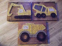 Truck String Art Truck Decor Dump Truck Cement by kreationsbykac