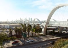 Work starts this week on a huge bridge made up of 10 pairs of arches, designed by Michael Maltzan to replace the iconic Art-Deco Sixth Street Viaduct in LA