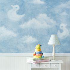 Pintura de parede com motivo de céu