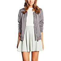 New Look Damen Jacke, Sateen Bomber , Gr. Black Bomber Jacket, New Look, Jeans, Skater Skirt, Modern, Autumn Fashion, Mini Skirts, Clothes For Women, Tops