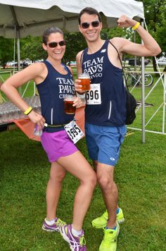 TEAM PAWS runners celebrating post race - Photography by Tracie Schneider