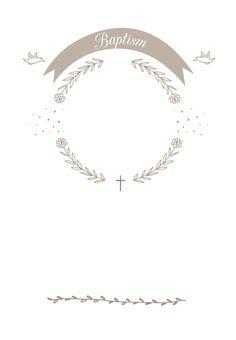 Ribbon Cameo - Free Baptism & Christening Invitation Template   Greetings Island