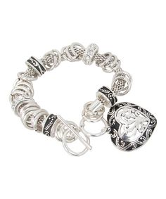 Take a look at this Silver Chain Link Filigree Heart Pendant Charm Bracelet by LOLO by New Dimensions on #zulily today! $10 !!