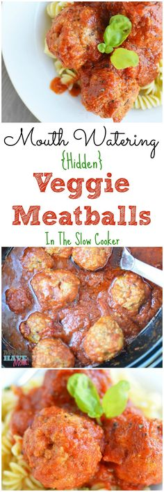 Mouth watering hidden veggie meatballs in a slow cooker! Hide your kids veggies in their favorite foods without them knowing! They'll get their veggies without even knowing you hid them in these meatballs. This crock pot hidden vegetable meatballs recipe is to die for! Step by step instructions and photos too!