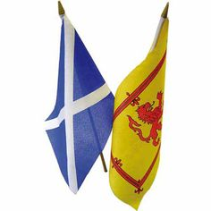 Scotlands Flags - Do you know the difference. The Yellow is for when the Queen of England is in residence. The blue and white...the real flag.