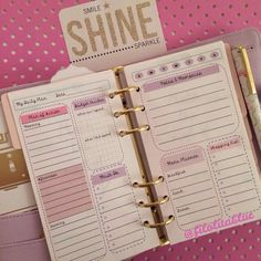 Printable Personal/Medium Size 1 Day of the Week Planning Page - Pretty Lilacs for kikki.K or Kate Spade Planner on Etsy, $2.50