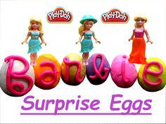 Play Doh Surprise Eggs ❤ Barbie ❤ Toys