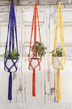 Who doesn't love a macrame hanger?!