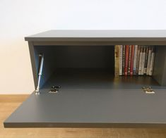Lowboard with hinged door House, Shelves, Interior, Table Tv, Entertainment Unit, Bookcase, Home Decor, Tv, Doors