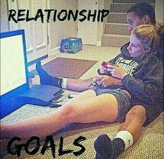 Playing video games with your boyfriend