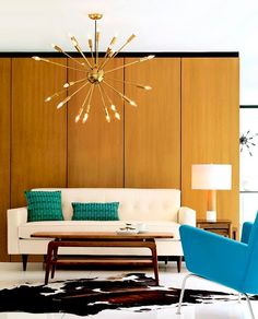 mid century blue and teal...love