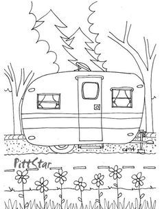 Trendy Embroidery Patterns Printable Coloring Pages Camping Coloring Pages, Coloring Pages To Print, Colouring Pages, Printable Coloring Pages, Coloring Pages For Kids, Camping Theme, Camping Crafts, Camping Ideas, Camping Hacks
