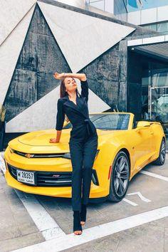 Yellow Car, Car Girls, Cars, Style, Fashion, Swag, Moda, Fashion Styles, Autos