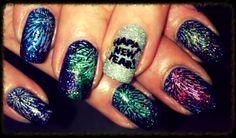 New years nails 2014 Stamping nail art MM02