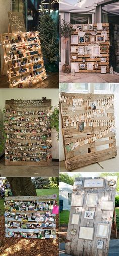 wedding-photo-display-ideas-with-wood-pallet-for-country-weddings.jpg - wedding-photo-display-ideas-with-wood-pallet-for-country-weddings. Pallet Picture Display, Pallet Display, Display Ideas, Country Wedding Inspiration, Wedding Country, Rustic Wedding, Wedding Reception, Vintage Country Weddings, Reception Backdrop