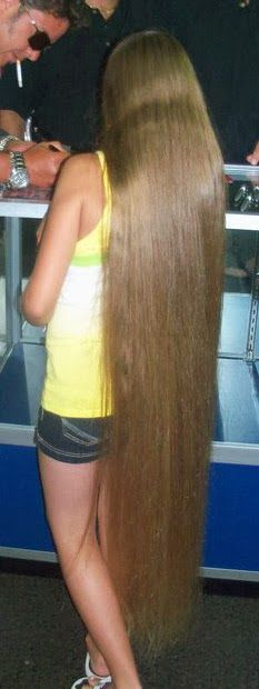 floor length blonde hair - photo #28
