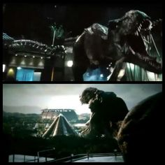 Jurassic World- Tyrannosaurus is Back!!! The original T-Rex from Jurassic Park has returned and what a return it was. Although she literally loses the fight against Indominus her time on screen was still epic and awesome. Nice way to bring back an original dinosaur. \=D/