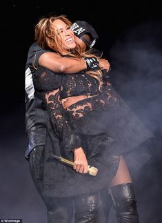 Bonnie & Clyde: Beyonce and Jay Z were every bit the power couple as they performed in Chicago on Thursday night for their joint On The Run tour