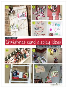 The best Christmas card display ideas from around the web | Cardstore Blog Christmas Card Display, Diy Christmas Gifts, All Things Christmas, Winter Christmas, Holiday Crafts, Christmas Time, Merry Christmas, Santa Claus Is Coming To Town, Card Displays