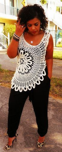Plus Size Crochet Tank Top