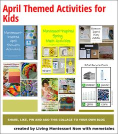 April Themed Activities for Kids - ideas for calendar observances throughout April along with unit studies and activities for April themes for home or school.