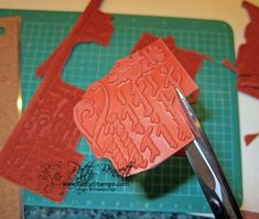 """take the rubber off the """"wheel"""" stamps, cut apart and make several NEW stamps!"""