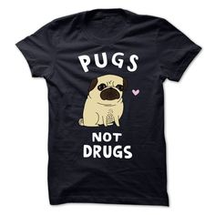 (Superior T-Shirts)- Order Now... Pugs Not Drugs - I Love my Pugs - Order Now...