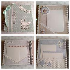 Álbum scrap bebé niño con papeles de dayka